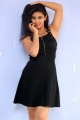 Actress Pavani Hot Images in Black Dress @ Mr Homanand Audio Launch