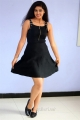 Actress Pavani Hot Black Dress Images @ Mr Homanand Audio Launch