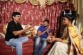 Janardhan Maharshi, Roja at Pavitra Movie Working Stills