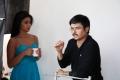 Shriya, Janardhan Maharshi at Pavitra Movie Working Stills