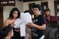 Shriya Saran, Janardhan Maharshi at Pavitra Movie Working Stills