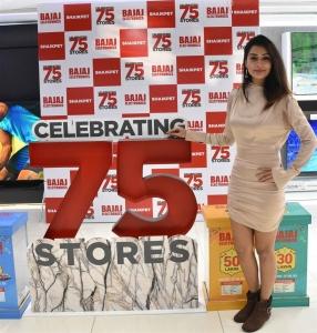 Actress Payal Rajput Launch Bajaj Electronics 75th Store in Shaikpet Hyderabad