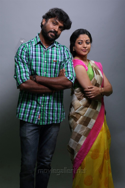 RS Karthik, Anjali Rao in Peechankai Movie Stills