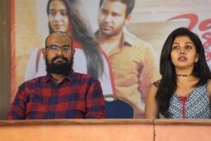 Director Nelson, Actress Riythvika @ Pelli Roju Movie First Look Launch Stills