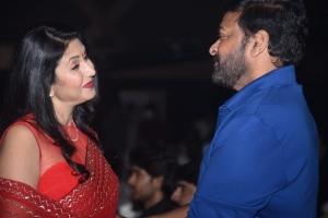 Deepti Bhatnagar, Chiranjeevi @ Pelli SandaD Pre Release Event Stills
