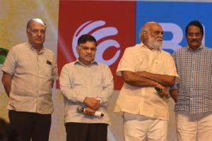 Allu Aravind, K. Raghavendra Rao, C. Aswini Dutt @ Pelli SandaD Pre Release Event Stills