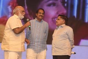 K. Raghavendra Rao,C. Aswini Dutt, Allu Aravind @ Pelli SandaD Pre Release Event Stills