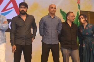 Srikanth, Shobu Yarlagadda, Prasad Devineni,Madhavi Kovelamudi @ Pelli SandaD Pre Release Event Stills