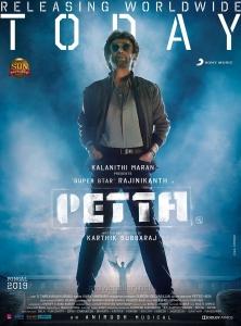 Rajinikanth Petta Movie Releasing Today Posters HD