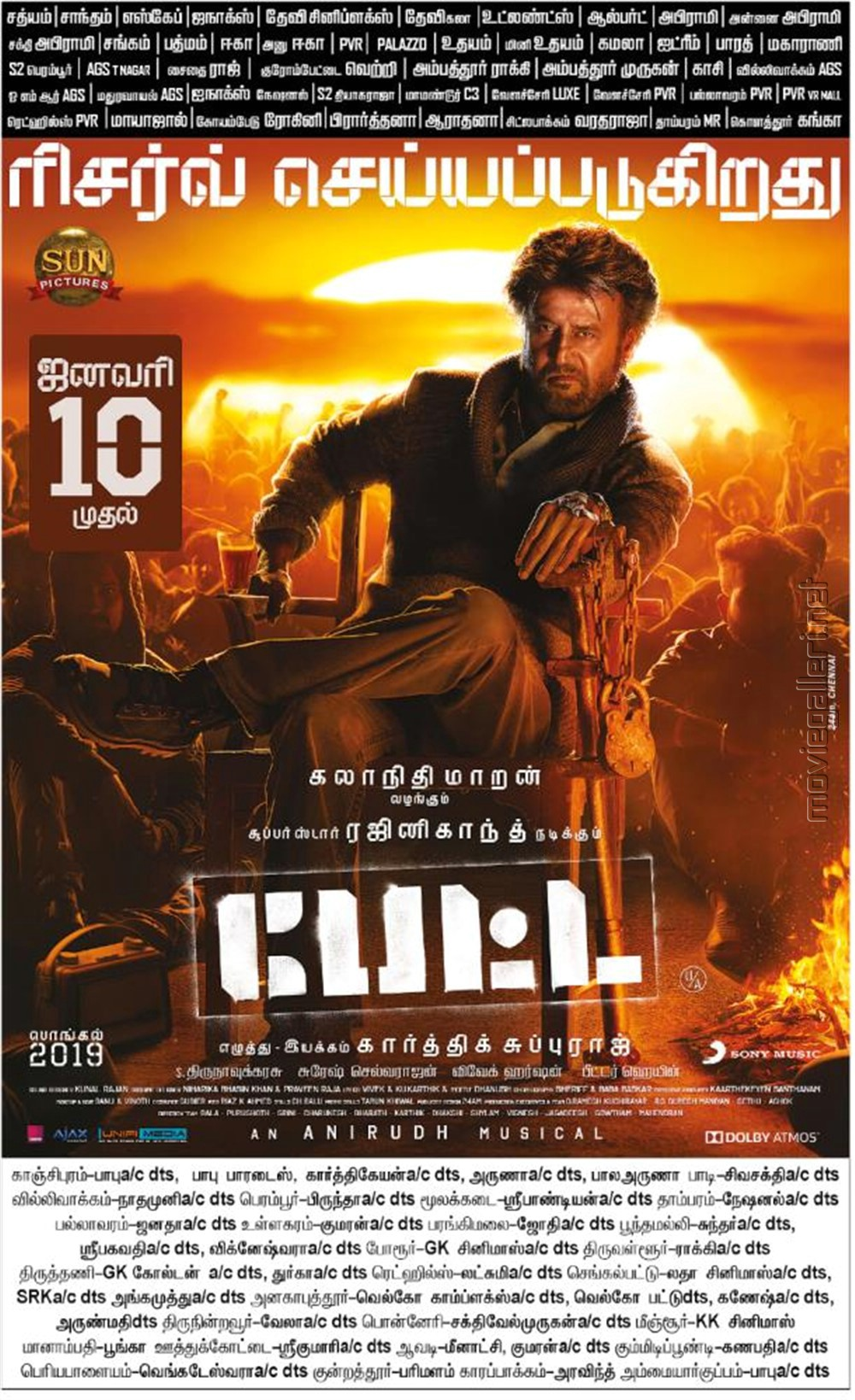 Rajinikanth Petta Movie Release Posters HD