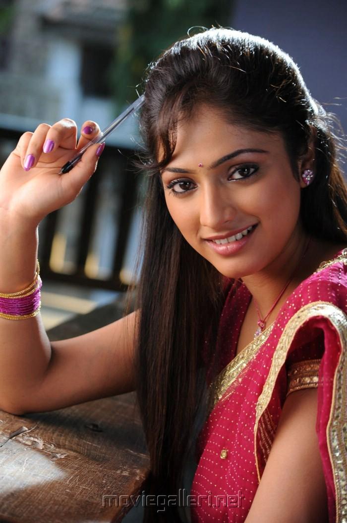 Pilla Zamindar Haripriya in Saree Stills