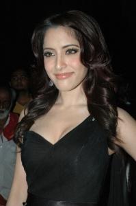 Actress Pinky Hot Stills in Black Dress
