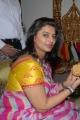 Pinky Reddy Saree Pics at Karni Jewellers Launch
