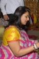 Pinky Reddy in Chiffon Saree Photos