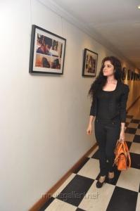 Actress Piya Bajpai in Black Dress at Back Bench Student Photo Exhibition