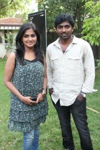 Ramya Nambeesan, Vijay Sethupathi at Pizza Movie Press Meet Stills