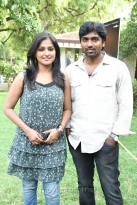 Ramya Nambeesan, Vijay Sethupathy at Pizza Movie Press Meet Stills
