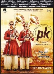 Aamir Khan & Anushka Sharma in PK Movie Release Posters