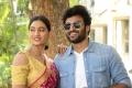Spandana, Dinesh Tej @ Playback Movie Press Meet Stills