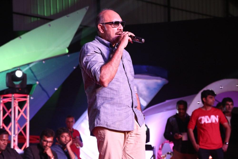 Sathyaraj @ Pokkiri Raja Audio Launch in Coimbatore Stills