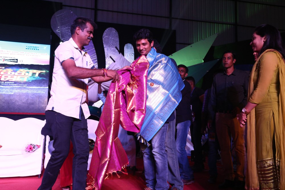 PT Selvakumar, Jiiva @ Pokkiri Raja Audio Launch in Coimbatore Stills
