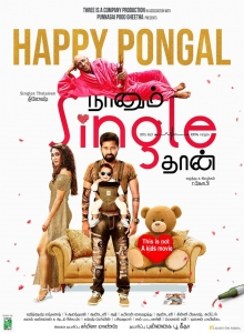 Naanum Single Thaan Movie Pongal Wishes Poster