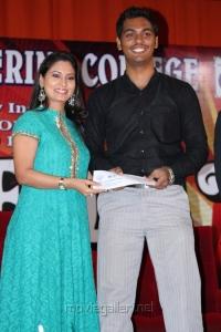 Pooja Umashankar at Panimalar College Annual Day Celebration