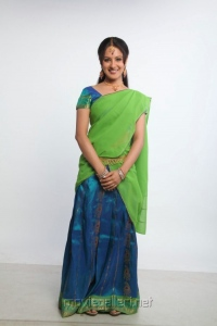 Pooja Bose Half Saree Photo Shoot Stills