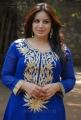 Actress Pooja Gandhi in Blue Designer Kameez with Full Sleeves