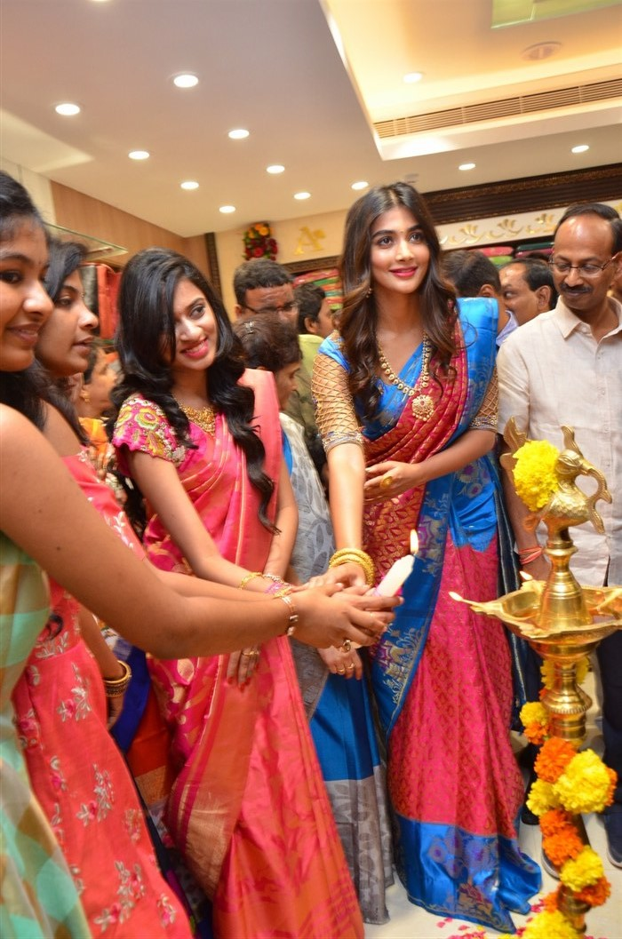Anutex Shopping Mall Launch by Pooja Hegde at Kothapet, Hyderabad.