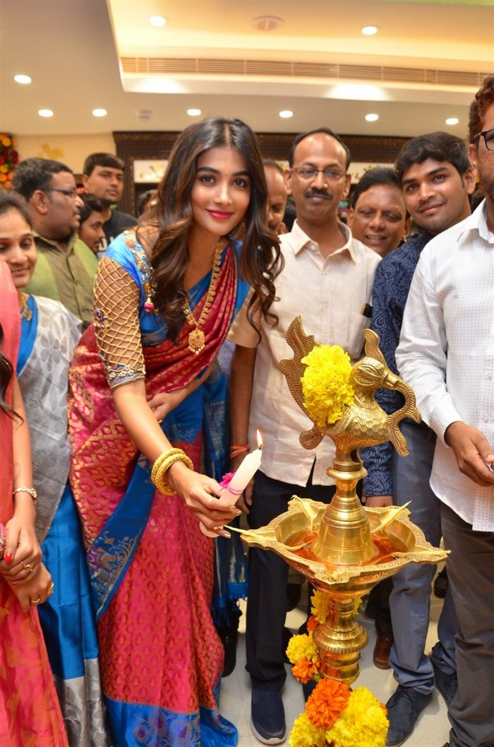 Pooja Hegde launches Anutex Shopping Mall at Kothapet, Hyderabad