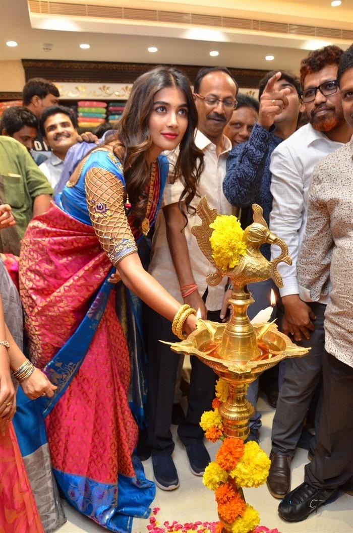 Pooja Hegde launches Anutex Shopping Mall at Kothapet, Hyderabad