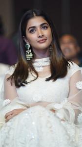 Actress Pooja Hegde Cute Stills @ Most Eligible Bachelor Pre Release
