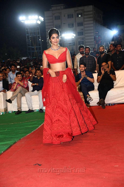 Actress Pooja Hegde Pics @ Maharshi Vijayotsavam Function