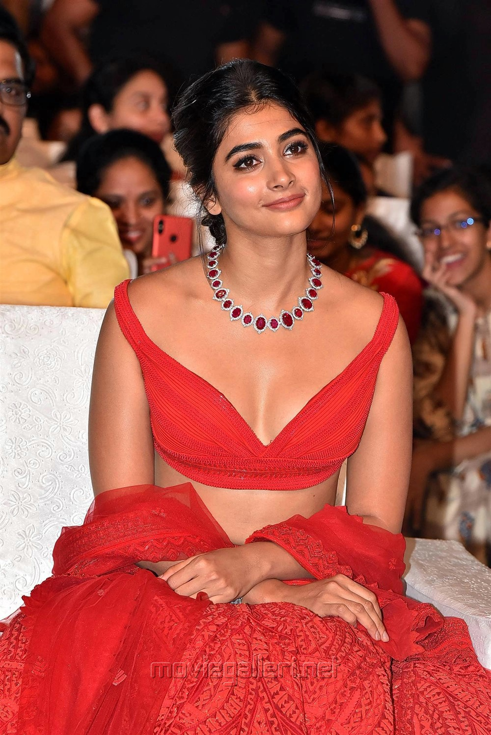 Actress Pooja Hegde Pics @ Maharshi Movie Vijayotsavam