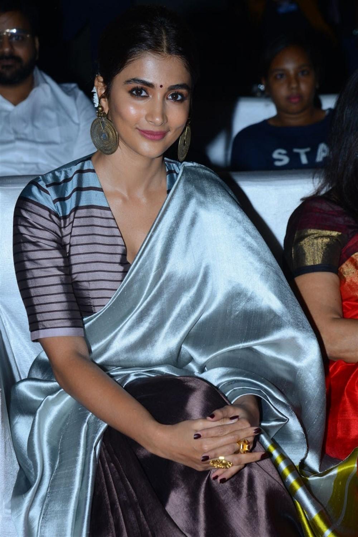 Actress Pooja Hegde Stills @ Ala Vaikunta Puram Lo Movie Success Celebrations