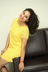 Actress Pooja Ramachandran Stills in Yellow Mini Dress