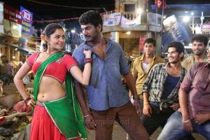 Andrea Jeremiah, Vishal in Poojai Movie Hot Stills