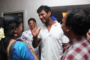 Actor Vishal @ Poojai Movie Press Show Stills