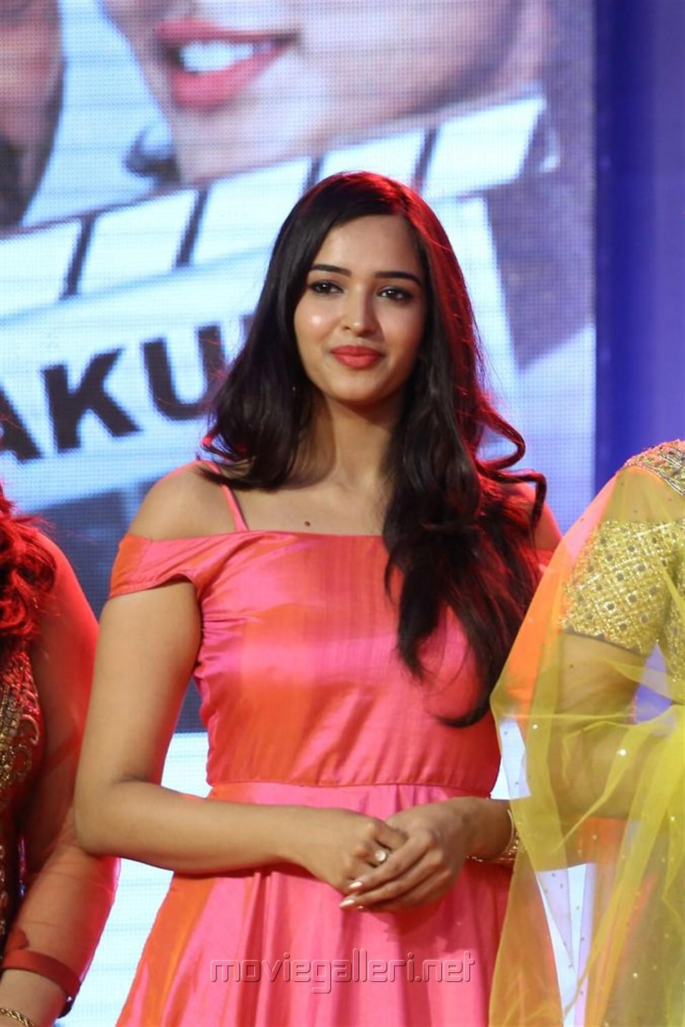 Actress Poojitha Ponnada Stills @ Darshakudu Audio Launch
