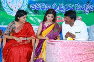 Actress Poonam Kaur celebrates birthday @ Anantapur Zilla Parishad School Photos