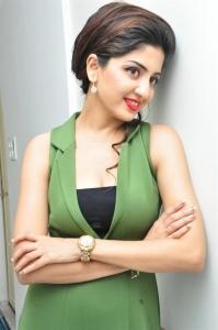 Beautiful Poonam Kaur Lal in Green Dress at Green Trends Salon