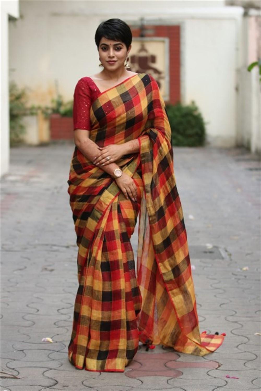 Actress Poorna Saree Latest Images