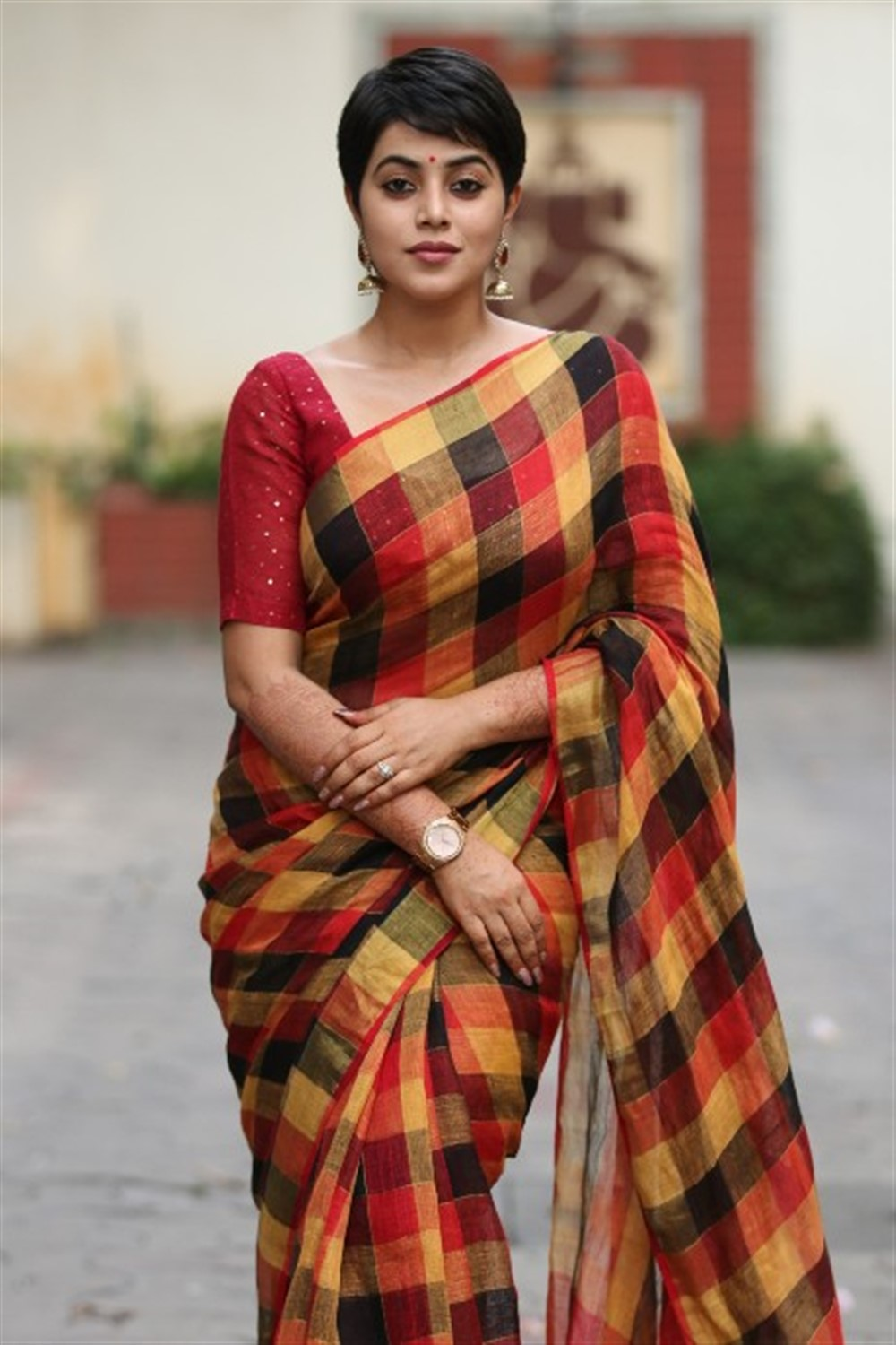 Savarakathi Actress Poorna in Saree Latest Images