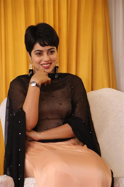 Actress Shamna Kasim New Pics @ Savarakathi Thanks Meet