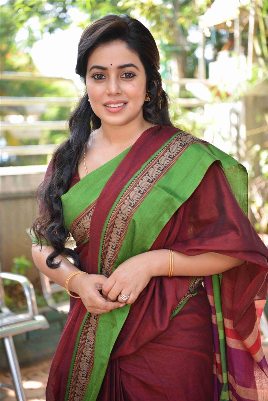 Actress Poorna in Saree New Stills