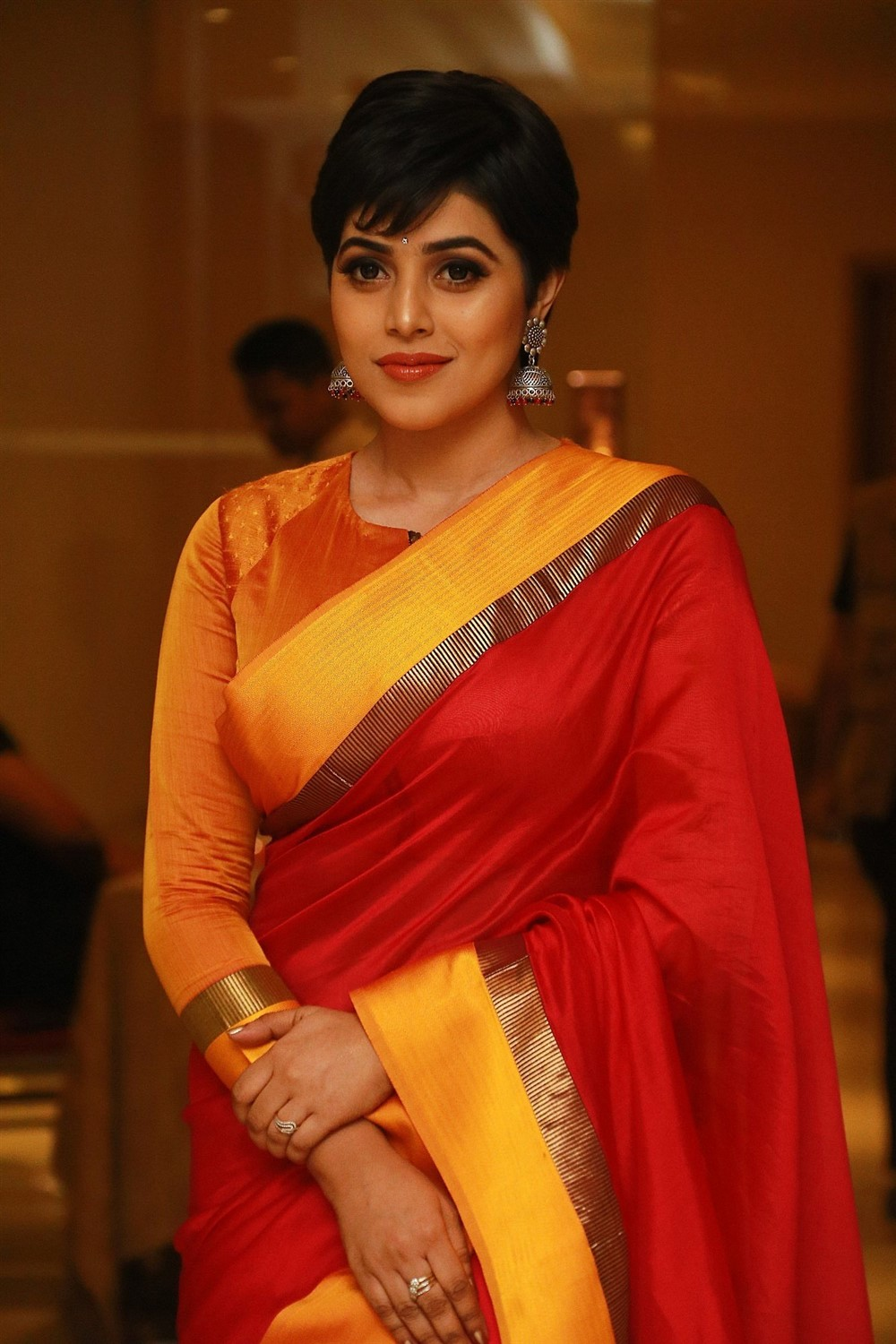 Actress Poorna in Saree New Stills
