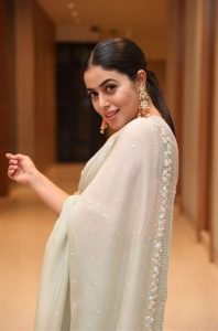Actress Poorna Saree Pictures @ Power Play Movie Pre Release
