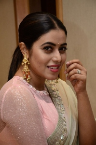 Actress Poorna Saree Pictures @ Power Play Pre Release Function