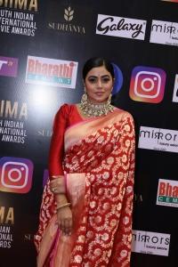 Actress Poorna New Saree Pics @ SIIMA Awards 2021 Red Carpet